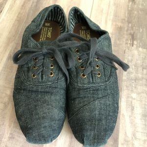 TOMS Chambray Shoes Men's Size 9 Womens Size 11
